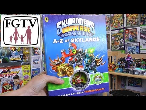 """A to Z Skylands"" Skylanders Swap Force Book Review with Sidekick Trigger Snappy - YouTube thumbnail"