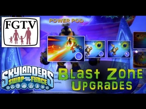 All Blast Zone's (Top & Bottom) Upgrades From Wave 1 of Skylanders Swap Force - YouTube thumbnail