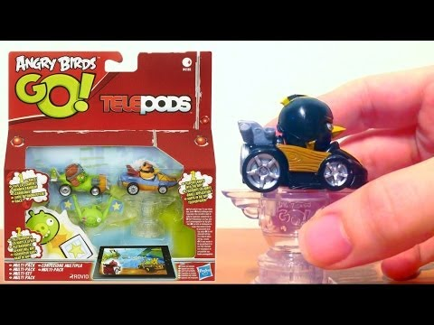 Angry Birds Go! iPad Telepods Mega Mahem (2 of 5) – Blue Birds, Pink Bird, Green Piggy - YouTube thumbnail