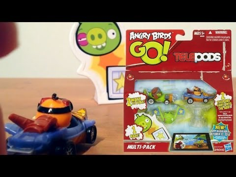 Angry Birds Go! iPad Telepods Multi-Pack Review (1 of 5) – Bubbles Bird, Foreman Pig, Boomerang Bird - YouTube thumbnail