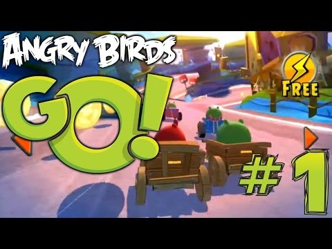Angry Birds Go! Let's Play #1 – Track 1, Champion Chase with Red Bird vs Stella - YouTube thumbnail