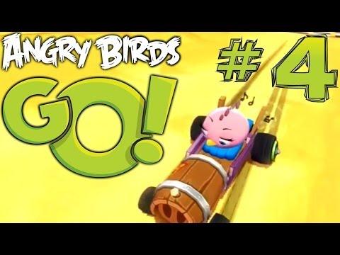 Angry Birds Go! Let's Play #4 – Green Baron kart, Air Tracks, Stunt Tracks - YouTube thumbnail