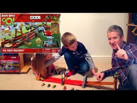 Angry Birds Go! Telepods Pig Rock Raceway (5 of 5) – Green Piggy, Red Bird - YouTube thumbnail