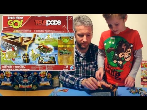 Angry Birds Go! Telepods Racing Rivals Launcher (3 of 5) – Green Piggy, Catapult Launcher - YouTube thumbnail