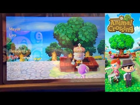 Animal Crossing New Leaf 3DS – Day 27 Town Tree Secret Dream Histroy List - YouTube thumbnail