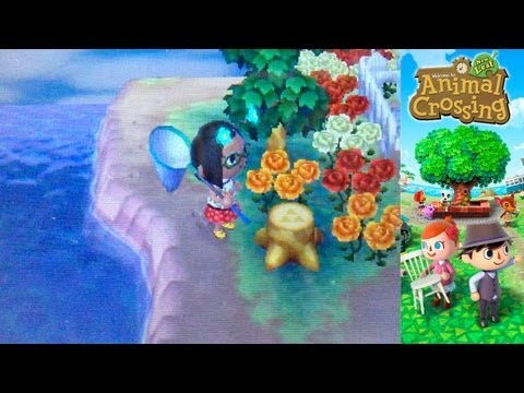 Animal Crossing New Leaf 3DS – Day 29 – Tri-Force Tree Stumps & Lovely Phone - YouTube thumbnail
