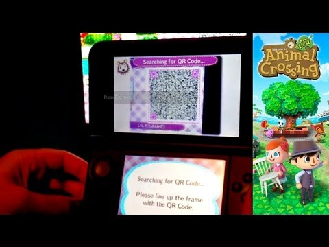 Animal Crossing New Leaf – Day 22 – QR Code Able Sisters Fabric Machine - YouTube thumbnail