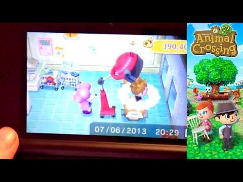 Animal Crossing New Leaf – Day 24 – Changing Heads and Makeup and Drinking Coffee - YouTube thumbnail