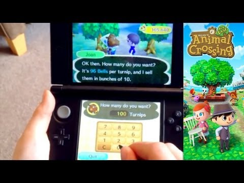 Animal Crossing New Leaf – Day 9 – Stock Market & Money-Bells Tips & Turnip Prices - YouTube thumbnail