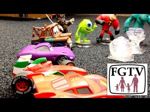 Disney Infinity Cars vs Skylanders Swap Force Release Dates – Cars Playset Unboxing - YouTube thumbnail