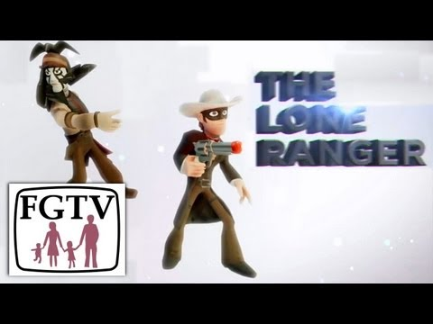 Disney Infinity Lone Ranger Playset Trailer & Hands-On With Toy Figures
