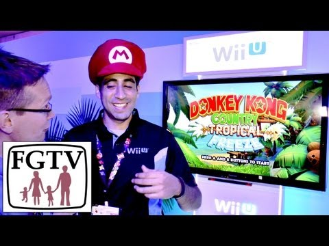 Donkey Kong Country Tropical Quest Wii U Hands-On Gameplay at E3 - YouTube thumbnail