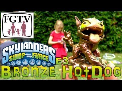 E3 2013 Bronze Hot Dog Skylander, Limited Edition Unboxing Competition - YouTube thumbnail