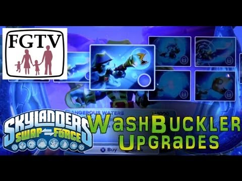 Full Wash Buckler Upgrade List (Top & Bottom) In Game For Skylanders Swap Force - YouTube thumbnail