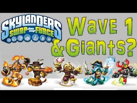 Giants & Wave 1 Swap Force Skylanders Figures Revealed via Official Website? - YouTube thumbnail