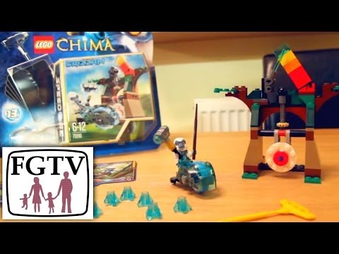 LEGO Legends of Chima Speedorz Review 70110 Tower Target with Grizzam Review and Unboxing - YouTube thumbnail