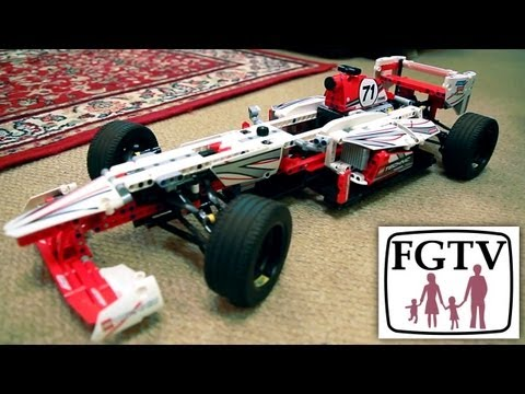 LEGO Technic Set Review (42000) F1 Grand Prix Racer Review, Unboxing & Build - YouTube thumbnail
