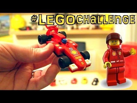 #LEGOchallenge Shell Ferrari LEGO Racers Jump & Review – 30190 30191 30192 30193 30194 30195 - YouTube thumbnail