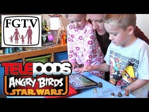 Let's Play Angry Birds Star Wars Telepods Review – Levels 3 to 7 - YouTube thumbnail
