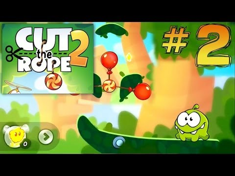 Let's Play Cut The Rope 2 #2 – First Forest Levels - YouTube thumbnail