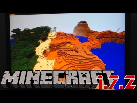 Mincraft 1.7.2 Review: New Biomes, Stained Glass Blocks, Ice, Flowers - YouTube thumbnail