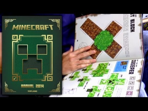 Minecraft Annual 2014 Book Review - YouTube thumbnail