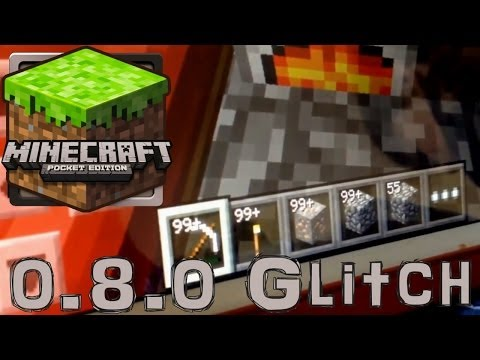 Minecraft Pocket 0.8.0 Gameplay Review – Infinite Resources Christmas Gltich - YouTube thumbnail