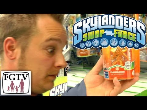 Roland's Gold Flameslinger Surprise & Swap Force Legendary News At Toys R Us - YouTube thumbnail