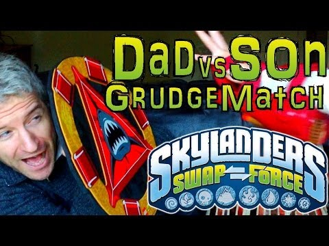 Saturday Grudge Match #1 – Dad & Son Swap Force Battle: Night Zone vs Boom Buckler in Rampart Ruins - YouTube thumbnail