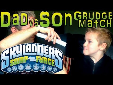 Saturday Grudge Match #11 – Dad & Son Swap Force Battle: Roller Brawl vs Stealth Elf Series 3 - YouTube thumbnail