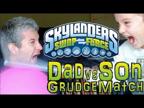 Saturday Grudge Match #3 – Dad & Son Swap Force Battle: Wash Buckler vs Hoot Jet in Frozen Outpost - YouTube thumbnail