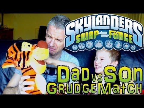 Saturday Grudge Match #7 – Dad & Son Swap Force Battle: Ninjini vs Hot Head - YouTube thumbnail