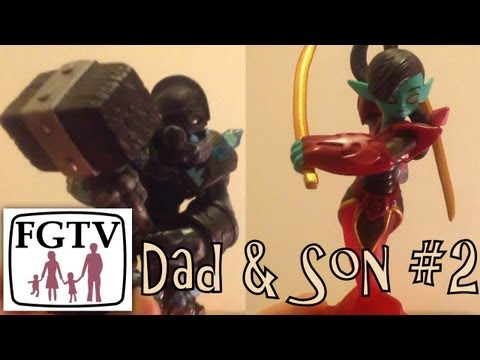 Skylanders Dad & Son Battle – Granite Crusher vs Scarlet Ninjini on Wheel of Power - YouTube thumbnail