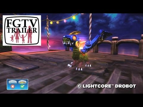Skylanders Giants Lightcore Drobot HD Trailer - YouTube thumbnail