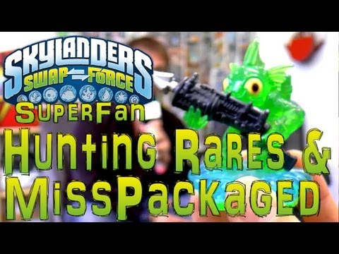 Skylanders Hunting Mispackaged & Rare Skylanders with Super-Fan - YouTube thumbnail