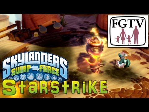 Skylanders Swap Force Starstrike – New Magic Character Gameplay Hands-On - YouTube thumbnail