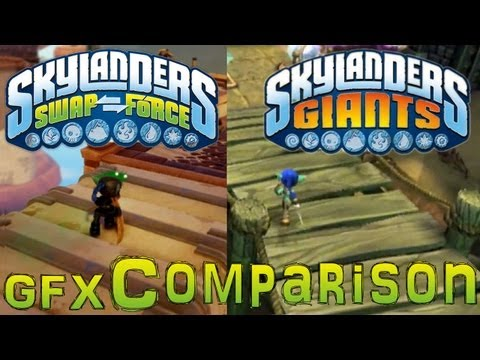 Skylanders Swap Force vs Giants Gameplay & Graphics Comparison – PS3 360 PS4 Xbox-One Wii-U - YouTube thumbnail