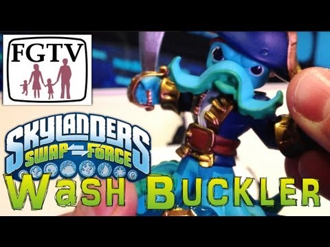 Skylanders Swap Force Wash Buckler – Gameplay Hands-On at E3 - YouTube thumbnail