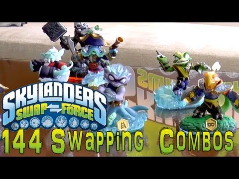 Speed Run of 144 Swap Force Skylanders Combinations - YouTube thumbnail