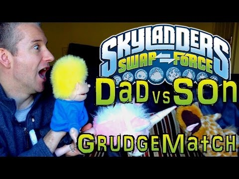 Sunday Grudge Match #6 – Dad & Son Swap Force Battle: Eruptor vs Wrecking Ball - YouTube thumbnail