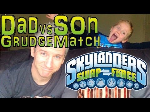 Sunday Grudge Match #8 – Dad & Son Swap Force Battle: Bumbleblast vs Terrafin - YouTube thumbnail
