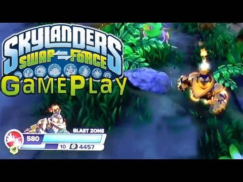 Swap Force 30 Minutes HD PS4 Gameplay, New Upgrades, 3 Bolt & Shock Puzzles, Full Cut Scenes, Voice - YouTube thumbnail