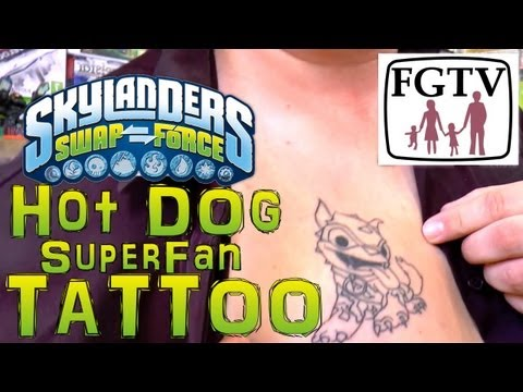 Swap Force Super-Fan Tattoo and Skylanders Collection - YouTube thumbnail