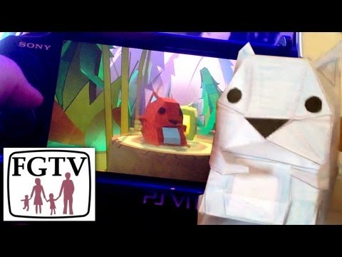 Tearaway PlayStation Vita – Testing the papercraft on a real family - YouTube thumbnail