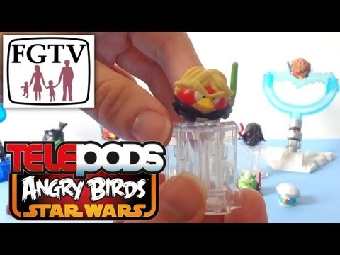 Telepods Review: Angry Birds Star Wars II Characters & Figure Collection - YouTube thumbnail