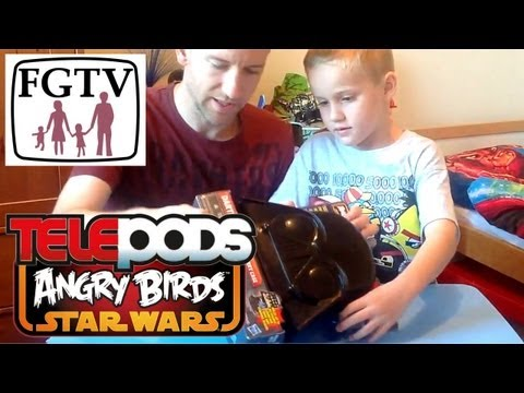 Telepods Review: Darth Vader Pig Carry Case for Angry Birds Star Wars II - YouTube thumbnail