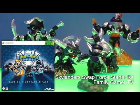 Unboxed Skylanders Swap Force Dark Edition Starter Pack – Blast Zone, Wash Buckler, Slobber Tooth - YouTube thumbnail
