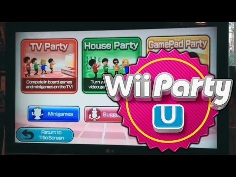 Wii Party U – Tour Of Game Modes (TV Party, House Party and Gamepad Party) - YouTube thumbnail