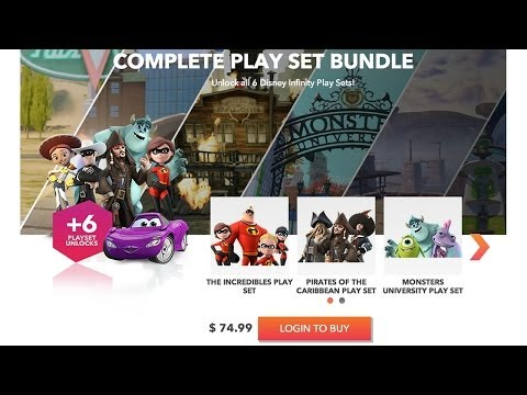 Disney Infinity Play Sets Now On PC – Full Collection Costs Just £49.99 / $74.99 - YouTube thumbnail