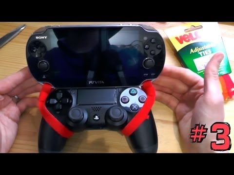 PS4 Vita Hack (3 of 4): Attach Vita to Dual Shock for Portable PS4 - YouTube thumbnail